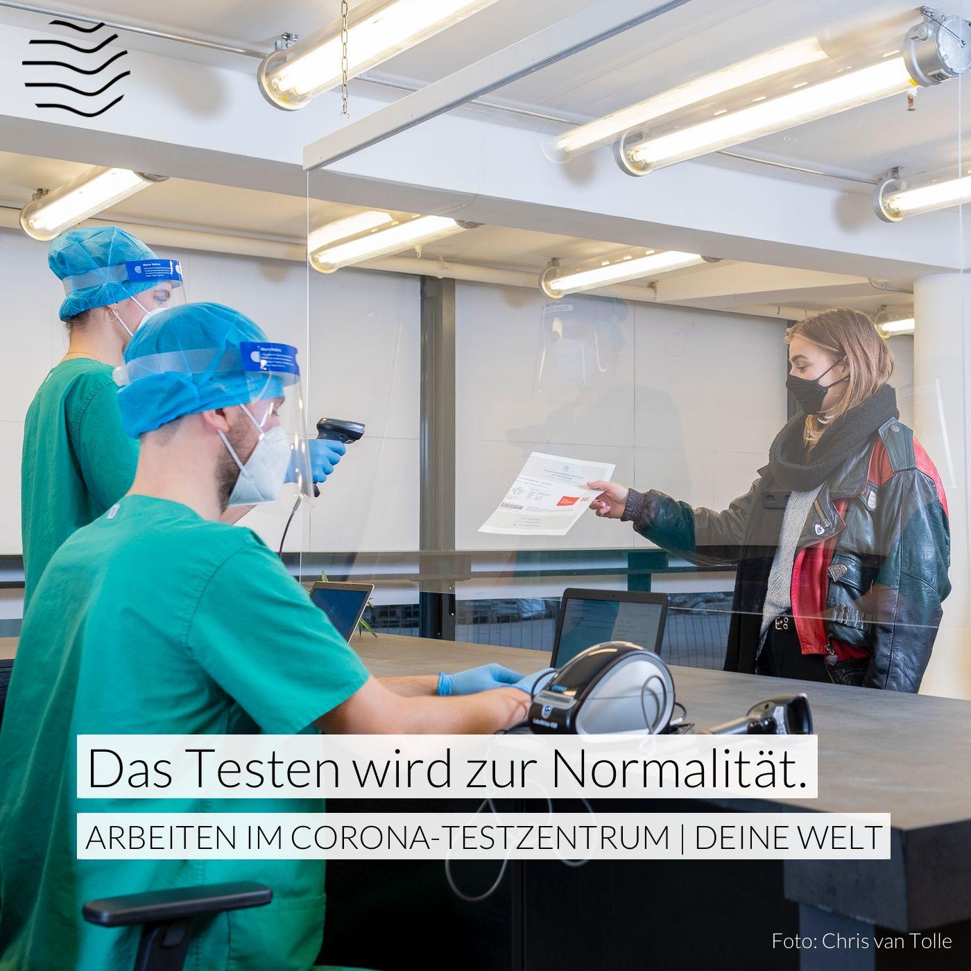 Alex & Thulie testen – Arbeiten im Corona-Testzentrum